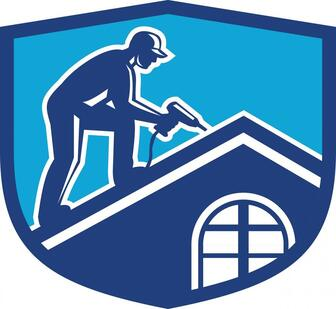 Image Of A man On A Roof Working For Delaware County Roofers Created Image